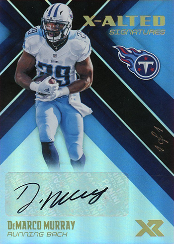 2017 Panini XR Football X-Alted Signatures Black DeMarco Murray