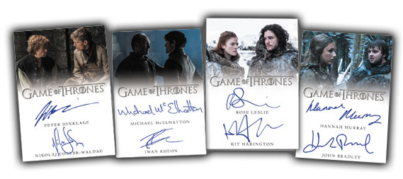 2017 Rittenhouse Game of Thrones Valyrian Steel Dual Autographs