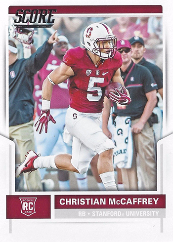2017 Score Christian McCaffrey Rookie Card