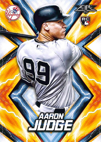 2017 Topps Fire Baseball Aaron Judge Rookie Card