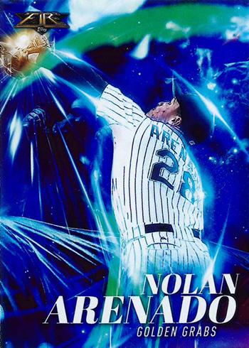2017 Topps Fire Baseball Golden Grabs Nolan Arenado