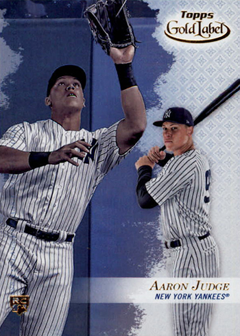 2017 Topps Gold Label Aaron Judge Rookie Card