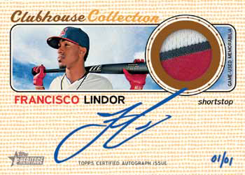 2017 Topps Heritage High Number Baseball Clubhouse Collection Autograph Patch