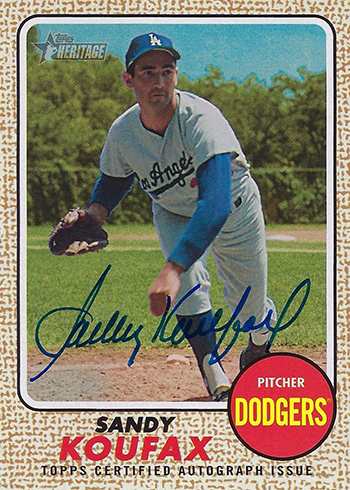 2017 Topps Heritage High Number Baseball Sandy Koufax Autograph