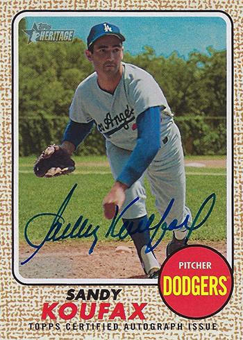 2017 Topps Heritage High Number Baseball Sandy Koufax Autograph