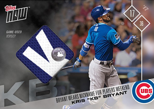 2017 Topps Now Players Weekend Relics Kris Bryant