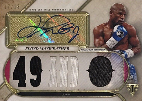 2017 Topps Triple Threads Baseball Floyd Mayweather Autographed Relic