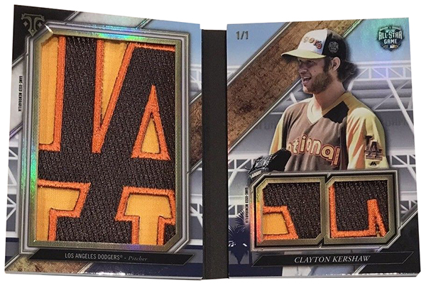 2017 Topps Triple Threads Baseball All-Star Sleeve Logo Patch Clayton Kershaw