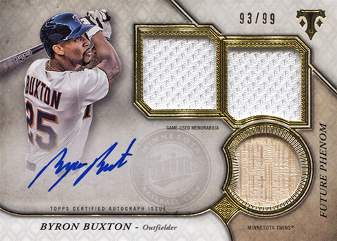 2017 Topps Triple Threads Baseball Byron Buxton Future Phenoms Autographed Relic