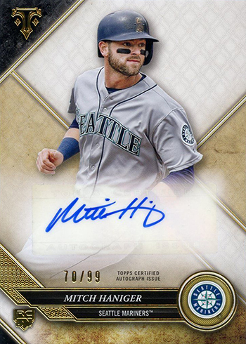 2017 Topps Triple Threads Baseball Rookie Autographs Mitch Haniger