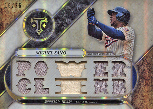 2017 Topps Triple Threads Baseball Miguel Sano Relic