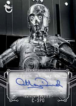 2018 Topps Star Wars Black and White Anthony Daniels Autograph