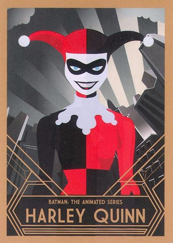 Batman: The Animated Series Trading Cards: 2015 DC Collectibles Action Figure Promo Harley Quinn