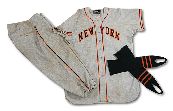 Mel Ott 1948 New York Giants Game-Worn Uniform