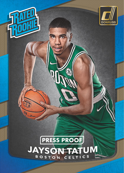 2017-18 Donruss Basketball Jayson Tatum Press Proof