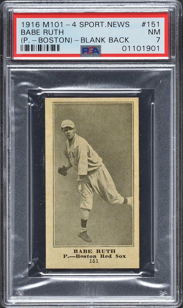 1916 M101-4 Sporting News Babe Ruth
