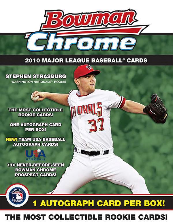 2010 Bowman Chrome Baseball Sell Sheet Page 1