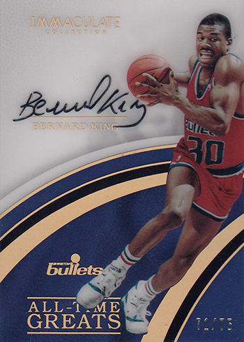 2016-17 Panini Immaculate Basketball All-Time Greats Autographs Bernard King