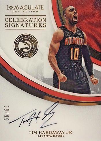 2016-17 Panini Immaculate Basketball Celebration Signatures Tim Hardaway Jr.