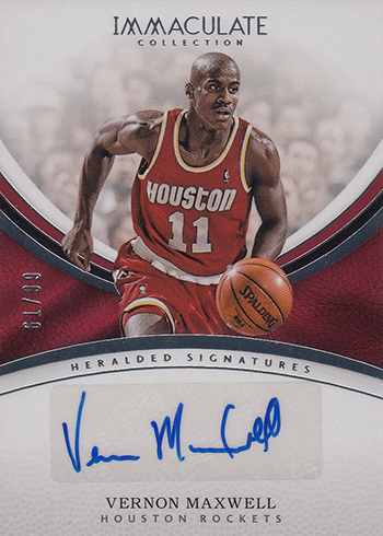 2016-17 Panini Immaculate Basketball Heralded Signatures Vernon Maxwell
