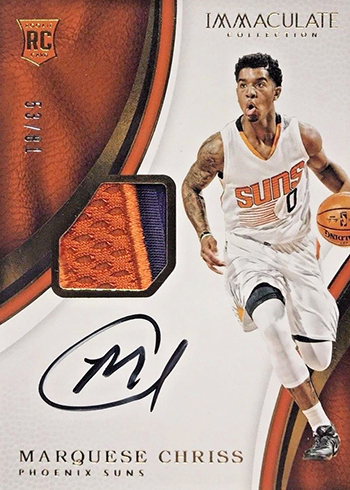 2016-17 Panini Immaculate Basketball Marquese Chriss Rookie Patch Autograph