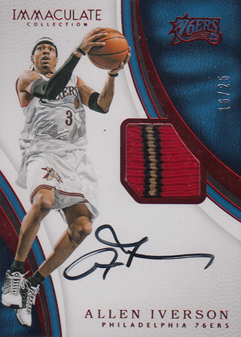 2016-17 Panini Immaculate Basketball Patch Autographs Red Allen Iverson