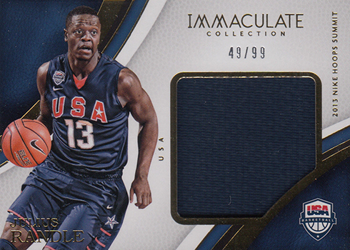 2016-17 Panini Immaculate Basketball Special Event Materials Julius Randle