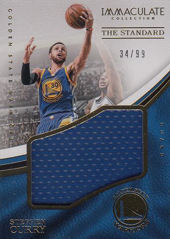 2016-17 Panini Immaculate Basketball The Standard Stephen Curry