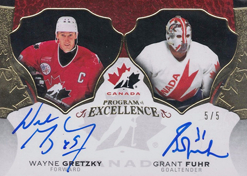 2016-17 Upper Deck The Cup Hockey Program of Excellence Dual Autographs Wayne Gretzky Grant Fuhr