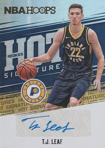 2017-18 NBA Hoops Basketball Hot Signatures Rookies T.J. Leaf
