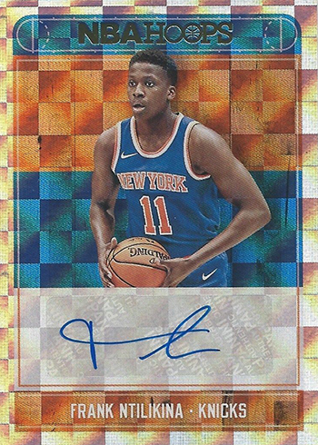 2017-18 NBA Hoops Basketball Rookie Autographs Frank Ntilikina