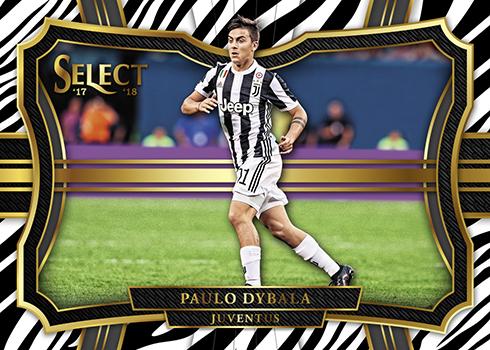 2017-18 Panini Select Soccer Zebra Paulo Dybala