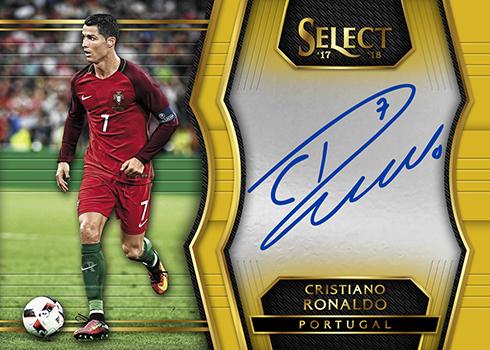 2017-18 Panini Select Soccer Cristiano Ronaldo Autograph