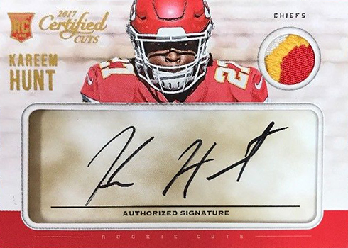 2017 Certified Cuts Kareem Hunt RC Auto Patch