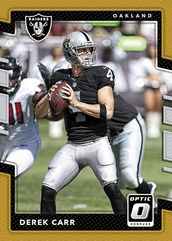 2017 Football Cards - Optic Holo Gold Derek Carr