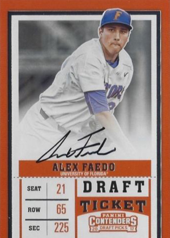 2017 Panini Contenders Draft Picks Baseball Alex Faedo Autograph