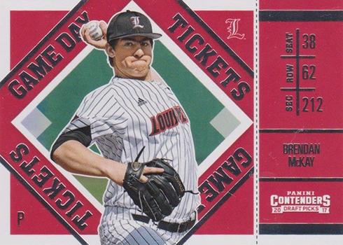 2017 Panini Contenders Draft Picks Baseball Game Day Tickets Brendan McKay