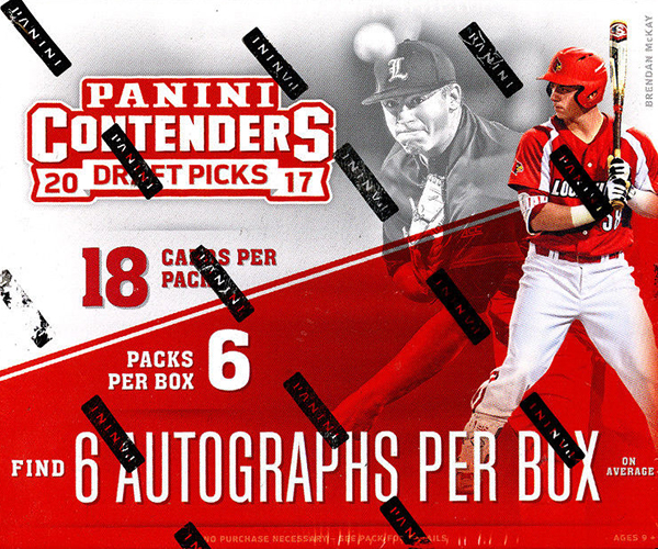 2017 Panini Contenders Draft Picks Baseball Hobby Box