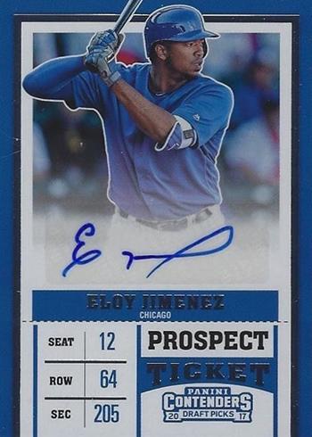 2017 Panini Contenders Draft Picks Baseball Prospect Ticket Eloy Jimenez Autograph