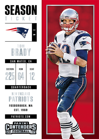 2017 Panini Contenders Football Tom Brady