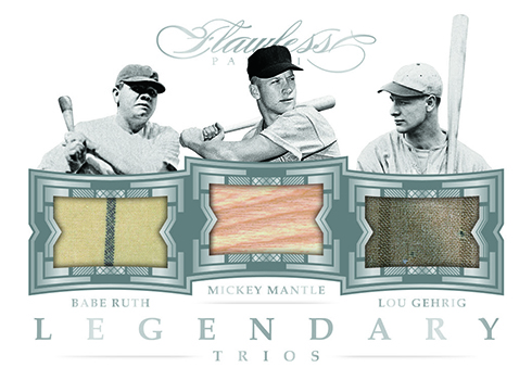 2017 Panini Flawless Baseball Legendary Trios