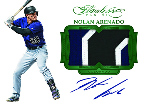 2017 Panini Flawless Baseball Patch Autographs