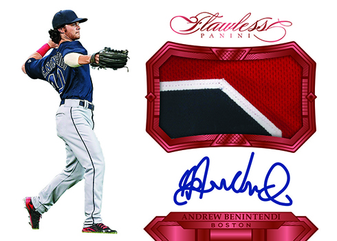 2017 Panini Flawless Baseball Rookie Patch Autograph Ruby