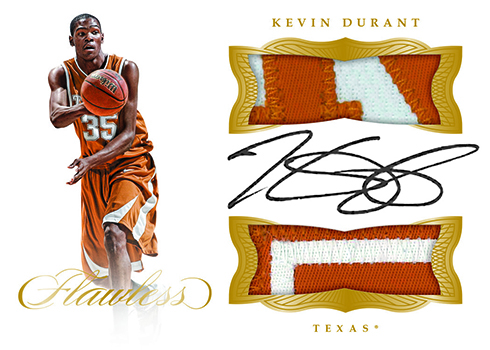 2017 Panini Flawless Collegiate Basketball Dual Patch Autograph