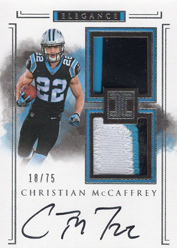 2017 Panini Impeccable Football Christian McCaffrey Auto Patch RC