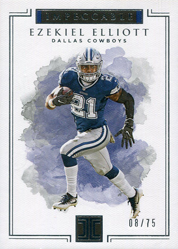 2017 Panini Impeccable Football Ezekiel Elliott