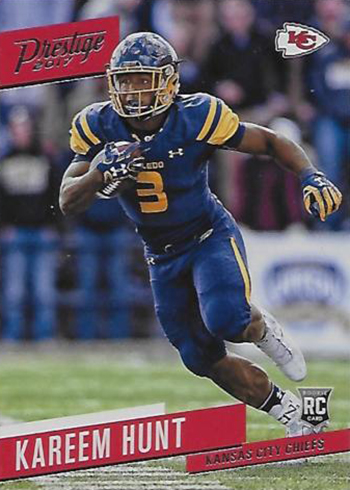 2017 Prestige Kareem Hunt Rookie Card