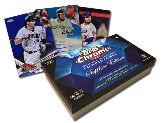 2017 Topps Chrome Sapphire Baseball Factory Set