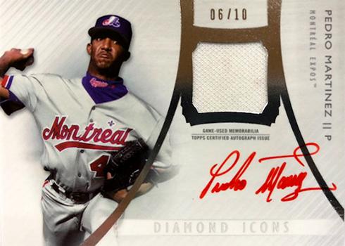 2017 Topps Diamond Icons Baseball Single Player Autographed Relic Pedro Martinez