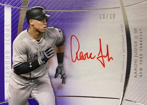 2017 Topps Diamond Icons Baseball Red Ink Autographs Purple Aaron Judge